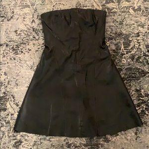 Zara strapless faux leather dress
